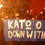 #KillahP remembered. We do not forget! Down with #Fascism! #PavlosFyssas banner in #Brighton http://t.co/VV5AbqrmyJ