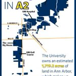 .@umich owns an estimated 1,719.2 acres of land in Ann Arbor, which makes up 9.4% of the city. http://t.co/tNBE60W666 http://t.co/tSifpbpStA