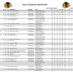 Here are the forwards who will be at #Blackhawks training camp. http://t.co/BkFtBn9Y0J
