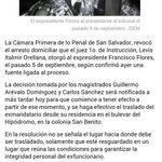 Parte del reporte de @juancarlosvrm sobre revocatoria del arresto domiciliar a Francisco Flores. @ojoatento http://t.co/7WLoyit4Dn