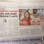 RT @katiefinnegancl: Sound as a pound: music and magic at @BristolPound party #Bristol Post 18.09.14 #BristolPoundBirthday #Hyped http://t.co/jsVO4qMjcg