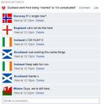 "#Scotland has changed its Facebook status from ""married"" to ""its complicated"".  #indyref http://t.co/kP9Gg0dtNO"