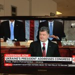Happening now -- Ukraines President Petro Poroshenko addresses the United States Congress - via @CNN http://t.co/4IbINdvBSM