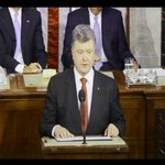 "RT @markknoller: ""I urge you not to let Ukraine stand alone in the face of this (Russian) aggression,"" Poroshenko urges Congress. http://t.co/dW5CshxJdl"