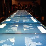 Interactive digital table shows human rights atrocities around the world in Breaking the Silence gallery.#cbcmb #cmhr http://t.co/QRyWwLnTHp