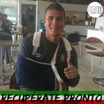 Le deseamos una pronta recuperación al goleador @cesarARIAS23 quién ayer sufrió una luxación en su hombro derecho. http://t.co/MV9ulxmv8u