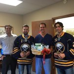 RT @BuffaloSabres: @JEnroth125 & @MMoulson in Clarence delivering tickets to Dr. Carmine Tiso DDS. #SabresSTH http://t.co/OMWJghtiWS #Sabres