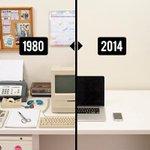 L'évolution de nos bureaux de 1980 à 2014 - http://t.co/ZyT8g9aBMH http://t.co/gs0eksEhmC