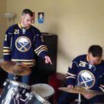 RT @BuffaloSabres: Drew Stafford giving @zemgus94 pro tips on drumming at a season ticket holders house in Grand Island. #SabresSTH http://t.co/j04PHqY1SC