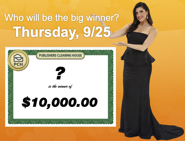 PCH Danielle Lam (@PCHDanielle): MOAR WINNERS!!!!!  $10,000 to be given away next Thursday to 1 lucky #PCH entrant! RT if YOU want to win! http://t.co/zcUKxZWuOy