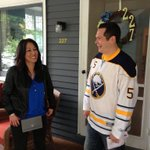 RT @BuffaloSabres: Mike Sweeney, its your lucky day. Season tickets from Kim Pegula. #SabresSTH http://t.co/2nlsP5iWxY
