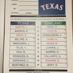 RT @Rangers: Heres how the #Rangers will line up against the As today at 2:35 CT: http://t.co/lmTwOwsfJ4