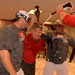 When you win the AL West, its ok to douse your boss in champagne. http://t.co/qkPVKHfzxm