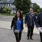 Kim Pegula, Tim Murray & Ted Black walking around #Buffalo delivering season tickets. (@BWipp) #SabresSTH http://t.co/8ZLIo9byYQ