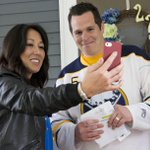 RT @DerekGeePhoto: When Kim Pegula showed up with his Sabres season tickets, Mike Sweeney asked her to facetime his vacationing wife. http://t.co/Wf27dZRDJO