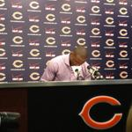 Brandon Marshall has arrived with notes. http://t.co/i2a226R0sM