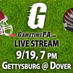 Friday night, @GameTimePA_SC has two LIVE #YAIAA football games: Gettysburg at Dover and York Catholic at Delone http://t.co/QPicTosL9z