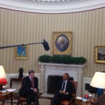 Obama and Poroshenko in Oval Office. http://t.co/5S16g4fApE