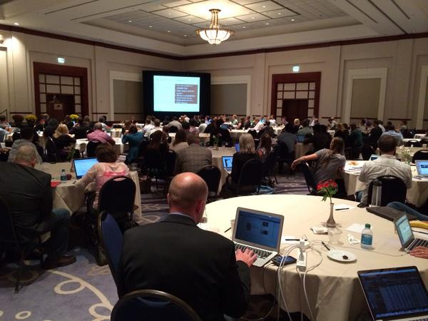 Great to have a full house today at #ACCELERATE14! Thanks @Adobe, @Clicktale, @Observepoint, @Tealium! http://t.co/CThW6FM5UK