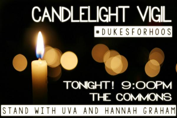Join your fellow @JMU Dukes as we stand w/ @UVA and Hannah Graham tonight @ 9 in The Commons #DukesForHoos @UVaStudCo http://t.co/vPbSAjPM5U
