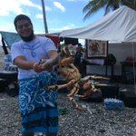Coconut crab: Its whats for dinner (and breakfast and lunch) #hokulea on Swains @StarAdvertiser @HokuleaWWV http://t.co/qZTc6cGJDi