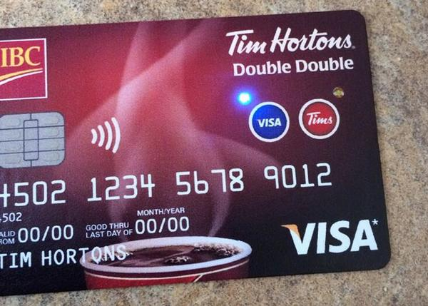 The #DoubleDoubleCard is really 2 cards in one – a @TimHortons Card and a @CIBC Visa credit card. Cool right? http://t.co/2MKLcqiUdF
