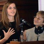 Emma Watson promueve en Uruguay la participación de mujeres en la política (foto: AFP) http://t.co/Xx08ldgd4x http://t.co/0SOhcARByG