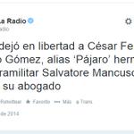 RT @bladodiaz: ¿Casualidad que después que bandido Mancuso laza excretas a Uribe le suelten al hermano? @ZuluagaCamila @MIsabelRueda http://t.co/Ulp4A36C32