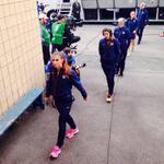 Go Team USA! RT @ussoccer_wnt: The #USWNT has arrived at Sahlen's Stadium. #USAvMEX kicks off at 7 pm ET on ESPN2.