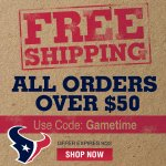 RT @HoustonTexans: Need some #Texans swag? Get the latest #Texans gear with FREE shipping through 9/22. SHOP: http://t.co/4cRuYaGxkR http://t.co/7VREV0y7oE