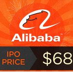 It's official: #Alibaba prices at $68 http://t.co/1BjicTk13E via @MattMEgan5 #AlibabaIPO http://t.co/5hVhiYMinv