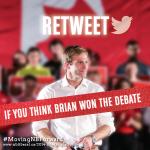 RT @NBLA_ALNB: RT If you think @BrianGallantNB won the debate! #MovingNBForward #NBVotes #NB http://t.co/WPBy3hafbV http://t.co/44K3lMsxnj