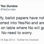 RT @stuartmillar159: To all those tweeting pic of Yes ballot papers on a No table https://t.co/TtvUzjYT70 http://t.co/bDxoqBvW9W