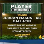 Congrats to Jordan Mason of Gallatin, who is the Touchdown Friday Player of the Week! http://t.co/gFYVFZTWnW