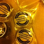 RT @suzanneallan: Perth and Kinross Council have made 600 commemorative pin badges for staff working on referendum night. #indyref http://t.co/pYpBDy0l1L