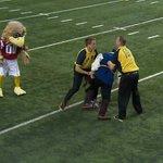 RT @nfl: VIDEO: @Atlanta_Falcons mascot tackles pro-Bucs streaker during pregame http://t.co/9gEwCJcIcW http://t.co/vFjSmt7vWw