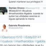 LAMENTABLE @GabrielaEsPais nos responde así a nuestro tema! Dice que no le preocupa! #YsiTePasaAti @MashiRafael http://t.co/FL7ng4gb0J