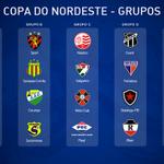 Os grupos da Copa do Nordeste 2015. O Sampaio ficou no grupo B. #oNordesteMerece http://t.co/nO4JLINT8U
