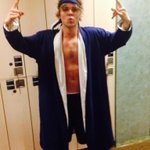 Ashton in his leisure robe http://t.co/QmXvteNO2n