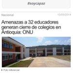 RT @AlvaroUribeVel: Esta amenaza a los educadores no es la única del país http://t.co/fbPbkJuznd