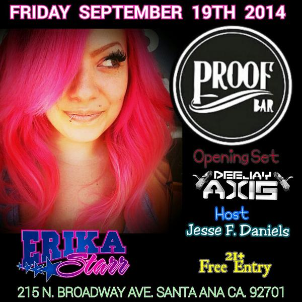 Tomorrow night.. I can't wait to spin with @Dj_Axis inside @proofbar #SantaAna w/ host @JessefDaniels
