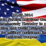Комитет Сената США утвердил проект закона о помощи оружием Украине и санкций против России http://t.co/a7GKOqUlOG http://t.co/zC4FICDmtt