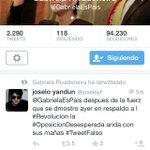@.GabrielaEsPais el colmo! Tuit falso dice! Asuma sus errores! No se burle de nosotros @MashiRafael #YsiTePasaAti http://t.co/9mTmEIhdA3