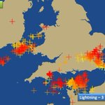 If you were rudely woken by rumbles of thunder, heres where the lightning has been in the last 3 hours. MattT http://t.co/3iWWgs942X