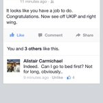 I love this facebook comment by Alistair Carmichael, Secretary of State for Scotland. http://t.co/7jMLvwDFjO