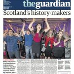 RT @guardian: Guardian front page, 4.30am edition, Friday 19 December: Scotlands history-makers http://t.co/g5bFJN5GE1