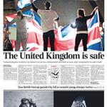 RT @Telegraph: @Telegraph front page as Scotland votes No: 19th September 2014 http://t.co/UUfFnAp3mA http://t.co/BnCofejcbf