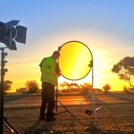 Getting ready to go live for @9NewsAdel as the sun sets over Tailem Bend. #9newsat6 #BehindTheScenes http://t.co/RasnlJAojJ