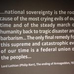 In European Parliaments visitors centre. Timely. @parlamentarium http://t.co/qXATjSKuFr