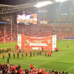 RT @sydneyswans: A great banner for a great man. Congratulations @adamroy37 #Goodes350 #goswans http://t.co/RTTmBB6IIN